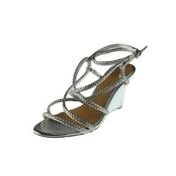 Badgley Mischka Women's Evening Sandals Shoes - Silver - Size: 6.5
