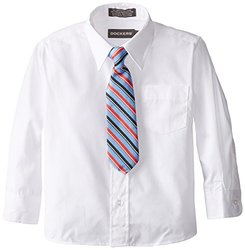 Dockers Little Boys' Shirt Tie Set, White, 04