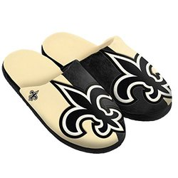 NFL New Orleans Saints Split Color Slide Slipper - Black - Size: Small