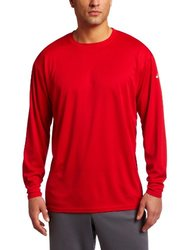 ASICS Men's Circuit 7 Warm-Up Long Sleeve Shirt - Red - Size: XS