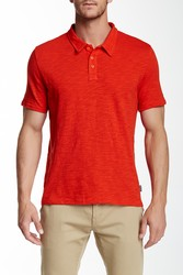 Threads For Thought Men's Slub Polo - Lava - Size: Large