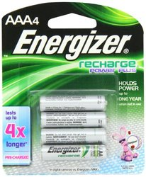 Energizer NH12BP-4 AAA Size NiMH Rechargeable Battery 4-Pack