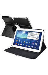 "Insten 360 Deg Swivel Leather Case for 10.1"" Samsung Galaxy Tab 3 - Black"