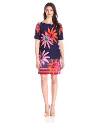 Julian Taylor Women's Short Sleeve Printed Floral Shift Dress - Size: 10