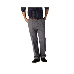 Haggar Work to Weekend Straight-Fit Flat-Front Kha - Grey - Size: 30x32