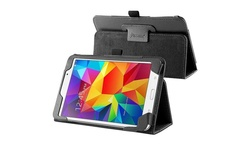 """Insten Leather Stand Tablet Case for Samsung Galaxy Tab 4 7"""" - Black"""