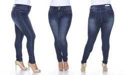 Women's Plus Size Super Stretch Skinny Denim Jean - Size: 18