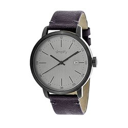 Simplify The 2500 Men's Watch: 2503-plum Band/silver Dial