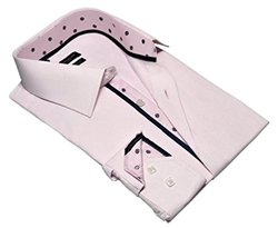 Rosso Milano Modern Fit Dress Shirts: Pink/Large