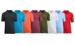 Galaxy By Harvic Men's Pique Polo Shirts 5 Pack - Multi - Size: XXL