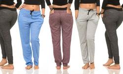 Coco Limon Women's Color Contrast Joggers Pack of 5 - Multi - Medium