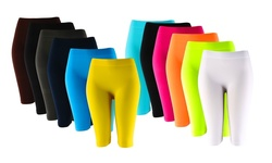 Knee-length Seamless Shorts (6-pack)/one Size: Lg005-3