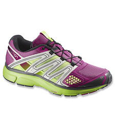Salomon Women's Quick Lace Athletic Shoes - Mystic Purple/Green - Size:7.5