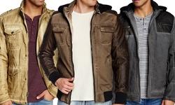 XRay Lightweight Padded Hoodie Jacket - Khaki - Size: Large