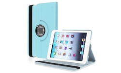 Insten 360-Degree Swivel Leather Case for iPad mini Retina - Light Blue