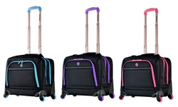 Olympia USA Hover 4 Wheel Spinner Tote: Black/Purple