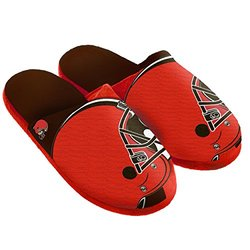 NFL Cleveland Browns Split Color Slide Slipper - Orange - Size: Medium