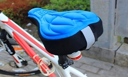 Etc Buys 3D Silicone Gel Saddle Cushion Outdoor Bicycle Soft Cover - Black