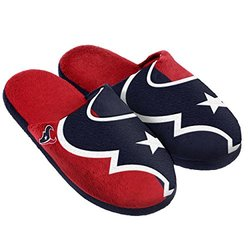 NFL Houston Texans Split Color Slide Slipper - Blue - Medium