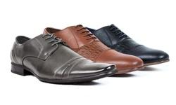 Bonafini Men's Lace-Up Dress Shoes - Grey - Size: 9.5
