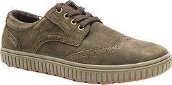 Muk Luks Men's Parker Oxford Sneakers - Coffee - Size: 11