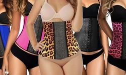 Sport Band Women's Waist Trainer - Pink Animal - Size: XL