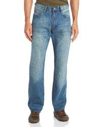 Izod Men's Relaxed Fit Jean - Light Vintage - Size: 34Wx32L
