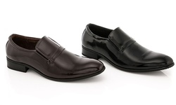 Franco Vanucci Men's Slip-on Dress Shoes: Black/9.5