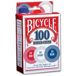 United States Playing Cards Bicycle Poker Chips  - 100 Count