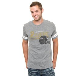 NFL Baltimore Ravens Throwback Stripe T-Shirt - Grey - Size: Medium