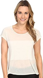 ASICS Women's Burnout Short Sleeve Top, Icicle, Large