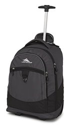 High Sierra Chaser Rolling Backpack Mercury and Black
