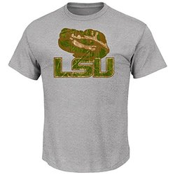 NCAA Louisiana State University Men's Tee - Steel Heather - Size: L