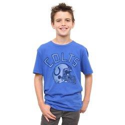 Indianapolis Colts Kid's Kickoff Crew T-Shirt - Blue - Size: Medium