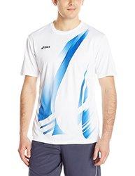 ASICS Men's Put Away Jersey - White/Royal - Size: Large