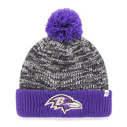 NFL Baltimore Ravens Women's '47 Trytop Cuff Knit Hat with Pom - Black