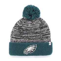 NFL Philadelphia Eagles Women's '47 Trytop Cuff Knit Hat with Pom - Black