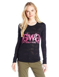 GWG: Girls With Guns Women's Burnout Tee, Small, Black