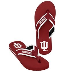 NCAA Indiana Hoosiers Men's 2013 Contour Flip Flop - Red - Size: Large
