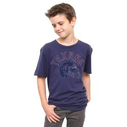 Houston Texans Kid's Kickoff Crew T-Shirt - Blue - Size: X-Large