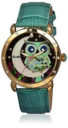 Bertha Ashley Ladies Watch: Br3003/teal Band-multi Colored Dial