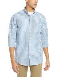 IZOD Men's Essential Tattersal Shirt - American Dream Blue - Size: 2XL