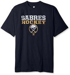 NHL Buffalo Sabres Men's Short Sleeve Screen Print T-Shirt - Navy - Size: XLT