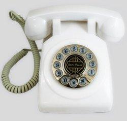 Paramount 1950's Desk Phone - White (PMT-1950-DESKPHONE-WH)