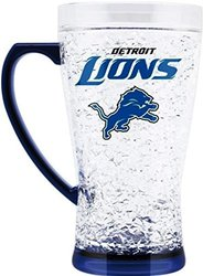NFL Detroit Lions Crystal Flared Mug, 16-Ounce