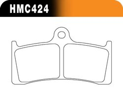 Hawk Performance Metallic Motorcycle Brake Pad Set