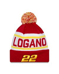 NASCAR Penske Racing Joey Logano Biggest Fan Redux Pom Knit Beanie, One Size, Scarlet