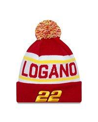 NASCAR Penske Racing Joey Logano Biggest Fan Redux Pom Knit Beanie, One Size, Scarlet