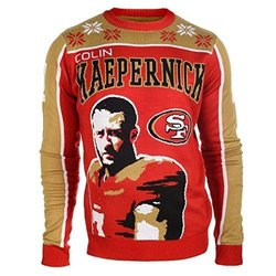 NFL Men's San Francisco 49ers C. Kaepernick C. Sweater - Red  - Medium