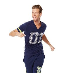 Zumba Fitness Men's Team Favorite Tee - Let's Go Indigo - Size: X-Small